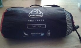 Eurohike cotton sleeping bag liner - unused & as new