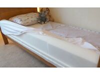 100cm foam bed guard and 2 barely used extra deep fitted sheets