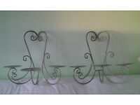 Pair of Church Candle Wall Sconces