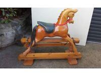 vintage pine rocking horse