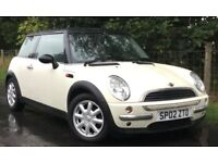 Mini One 1.6 Low Mileage *CHEAP CAR* ONLY £1650 3 Door Pepper White With Black Roof