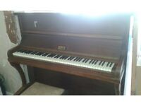 Brilliant Nathaniel Berry Upright Piano, lovely tone, perfect for learning
