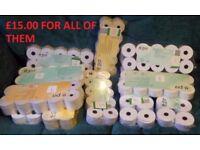 11 New Packs of 10 Till / Calculator / Adding Machine Rolls 110 in total Cash Register for Shop Home