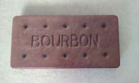 M&S Marks & Spencer BOURBON Biscuit Tin KITCHEN CONTAINER Beautiful Item RARE Vintage