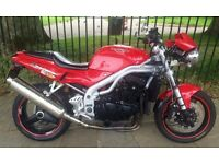 Triumph Street Triple / Daytona 955, 1999, Full Yrs MOT, VGC, Camden, London, May p/x for classic