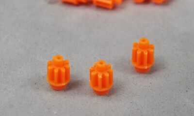 Car Parts - HO Slot Car Parts - HCS AMG 8T Orange Super Tough Pinion Gear Lot of 3 - Viper