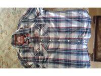 SUPERDRY short sleeved, check shirt, XXL, never worn