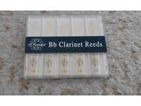 Set of 5 Bb Clarinet Reeds - unopened pack