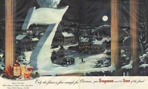 Large1948 two-page color ad for Seagram's 7-  Christmas