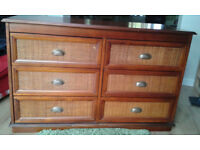 Large Chest of Drawers and matching Wardrobe from The Pier Furniture co.