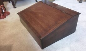 antique desk top writing chest stationery oak box