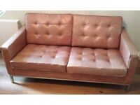 PICK UP NOW - Designer 'Florence Knoll' Replica Couch