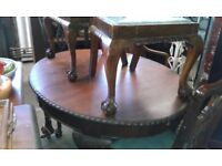 Oval dining table & 4 matching chairs