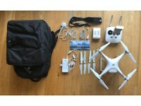 DJI Phantom 4 drone (perfect condition) + spare battery, backpack and accessories