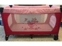 Hauck Minnie Mouse travel cot and toy bag