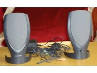 HARMON/KARDON MULTIMEDIA STEREO SPEAKERS Model: HK206 Compatible with PC, Laptop and Mobile Phone