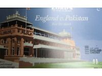 Cricket England Pakistan Day 3 @ Lords pair of tickets