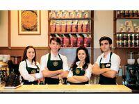 Waiting Staff & Baristas & Cleaners Wanted for Flagship Cafe at Piccadilly Circus
