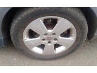 vauhall 16 inch alloys wheels tyres zafira astra vectra