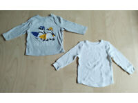 Brand New 2 Piece Old Navy Baby Clothes Bundle Set White/Grey 12-18 Months