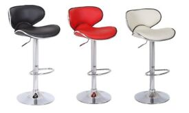 Casino Bar Stool Faux Leather Rotating Adjustable Gas Lift Pump New