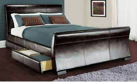 Double bed faux leather unused(mattress not included)£100 ono