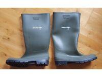 Men's green Dunlop wellies rubber boots UK 11 (46)