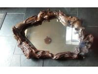 driftwood rustic mirror