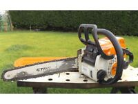 "Stihl MS170 14"" Chainsaw, with Manual and files."