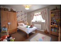 5 piece solid oak bedroom furniture, excellent condition.