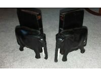 pair of elephant bookends