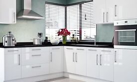 Complete kitchen package - white gloss slab £695