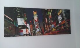 Driving on Times Square NYC- Stretched Canvas Print - 100cm x 40cm