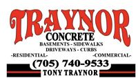 Concrete finisher/labourer needed