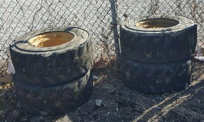 4 Foam Filled Skidloader Tires From Cat 262b