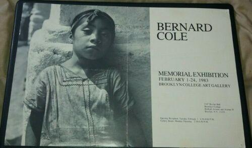 BERNARD COLE Memorial Exhibition 1983 Brooklyn College large art catalog mailer