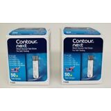 NEW Contour Next Blood Glucose 100 Test Strips (2 Boxes of 50)