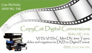 VHS, VHS-C, Mini DV, 8mm Tapes to DVD or USB Wallan Mitchell Area Preview