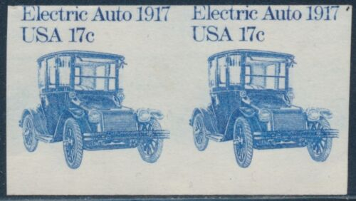 """#1906b """"electric Auto"""" With Imperf Error Pair Cv $130 Bt2442"""