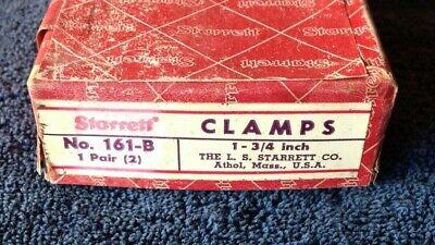 Vintage Pair Machinist Starrett 161-b 1 34 Toolmaker Parallel Metal Clamps Box