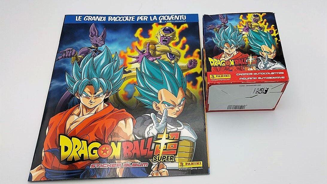 ALBUM BOX 50 Bustine DRAGONBALL SUPER packets figurine Stickers DISPLAY PANINI