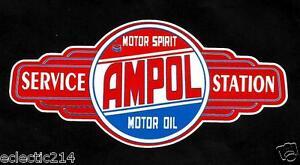 AMPOL LOGO SIGN VINYL Sticker Decal Garage Service GAS OIL Station Petrol