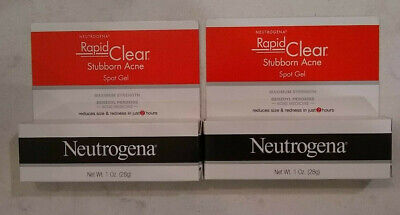 Neutrogena Rapid Clear Stubborn Acne Eliminating Spot Gel lot of 2 x 1oz Tubes