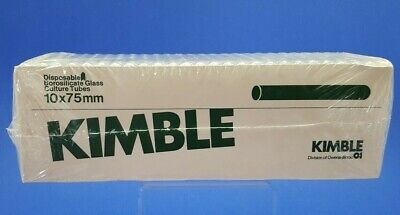 Kimble Disposable Borosilicate Glass Culture Tubes 10 X 75mm - Box Of 250