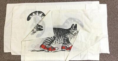 Vintage B Kliban Cat Red Sneakers Pillowcases (2 King Size + 2 Standard)