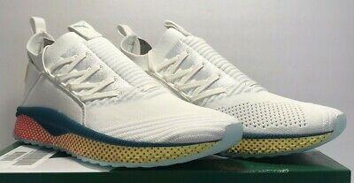 Puma Mens Size 10.5 Tsugi Jun CF White Ocean Teal Athletic Running Shoes New NIB