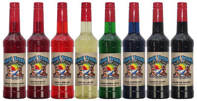 Choose Your Flavors 8 Bottles Of Snow Cone Syrup - Maui Tropic Brand