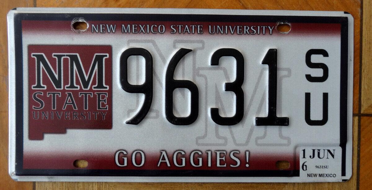 Nummernschild USA Kennzeichen NEW MEXICO State University 9631 SU Go Aggies NMSU