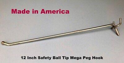 100 Pack 12 Inch All Metal Mega Peg Kit Or Garage Shelf Hanger Pegboard Hooks