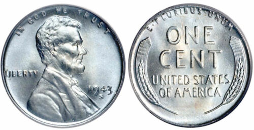 "1943-S  ""STEEL""  Lincoln Cent - ""UNC""- Uncirculated- Free Shipping"